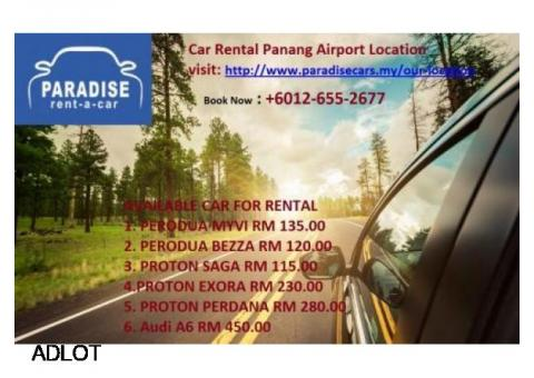 Cheap Car rental Penang +6012-655-2677