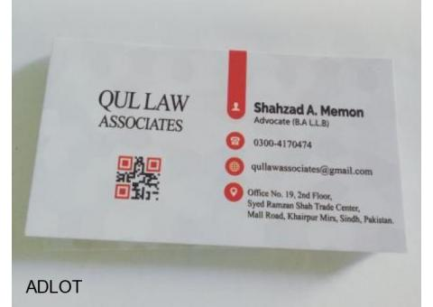 QUL Law Associates Dealing in All Kinds of Legal Issues